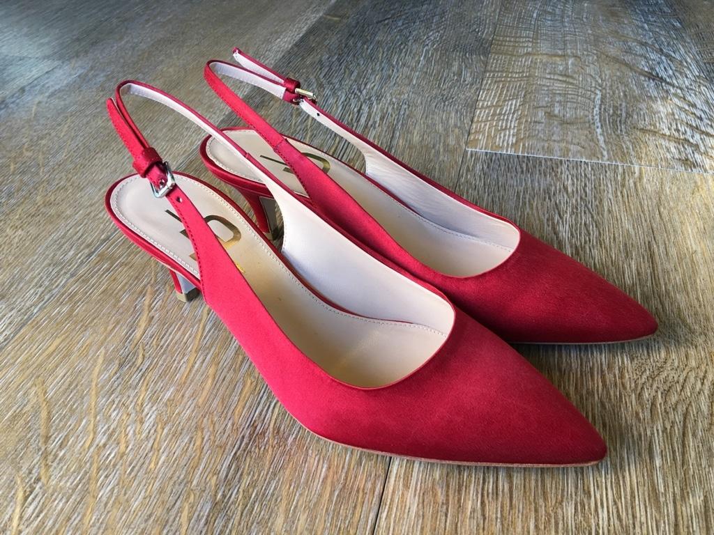 Rote Slingpumps von Julie Dee