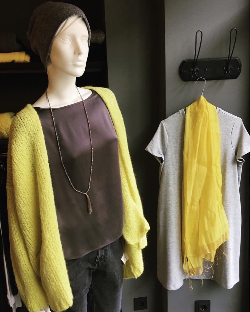 Gelb und Grau
