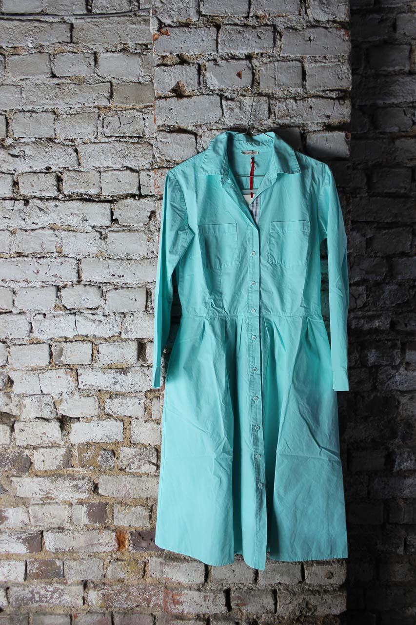Blusenkleid in türkis