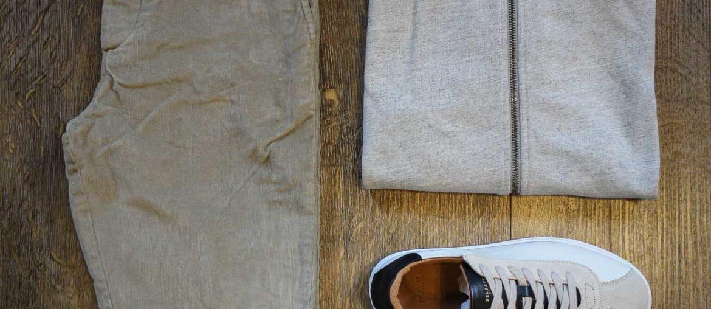 Cordhose und Sweater