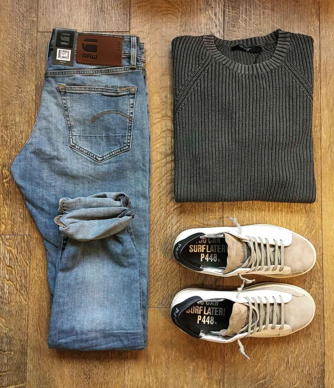 Outfit von Selected Homme, G-Star und P448