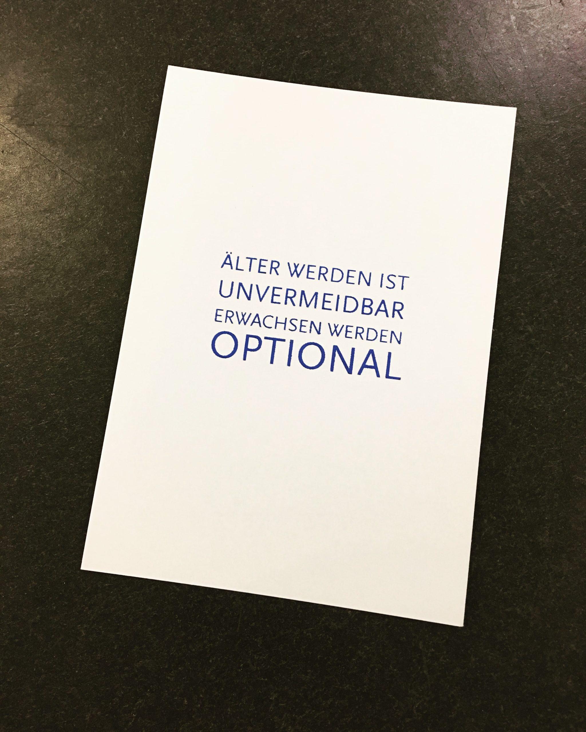 Erwachsen werden ist optional