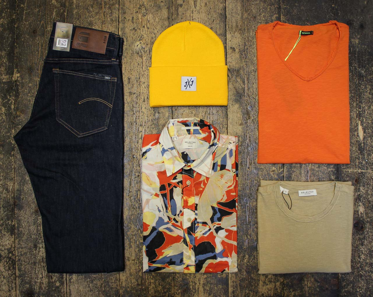 Sommeroutfit von Selected Homme, Imperial & G-Star